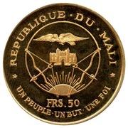 """50 Francs (President Modibo Keita, """"1967"""") – obverse"""