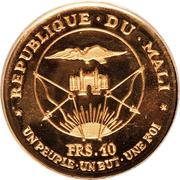 """10 Francs (President Modibo Keita, """"1967"""") – obverse"""