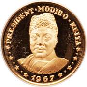 "10 Francs (President Modibo Keita, ""1967"") – reverse"