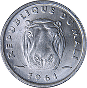 5 Francs Maliens – obverse