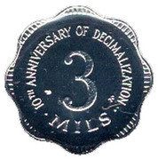 3 Mils (10th Anniversary of Decimalization) – reverse