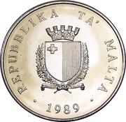 2 Liri (Independence) – obverse
