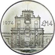 4 Pounds (Cottonera Gate) – reverse