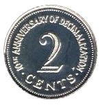 2 Cents (Decimalization) – reverse