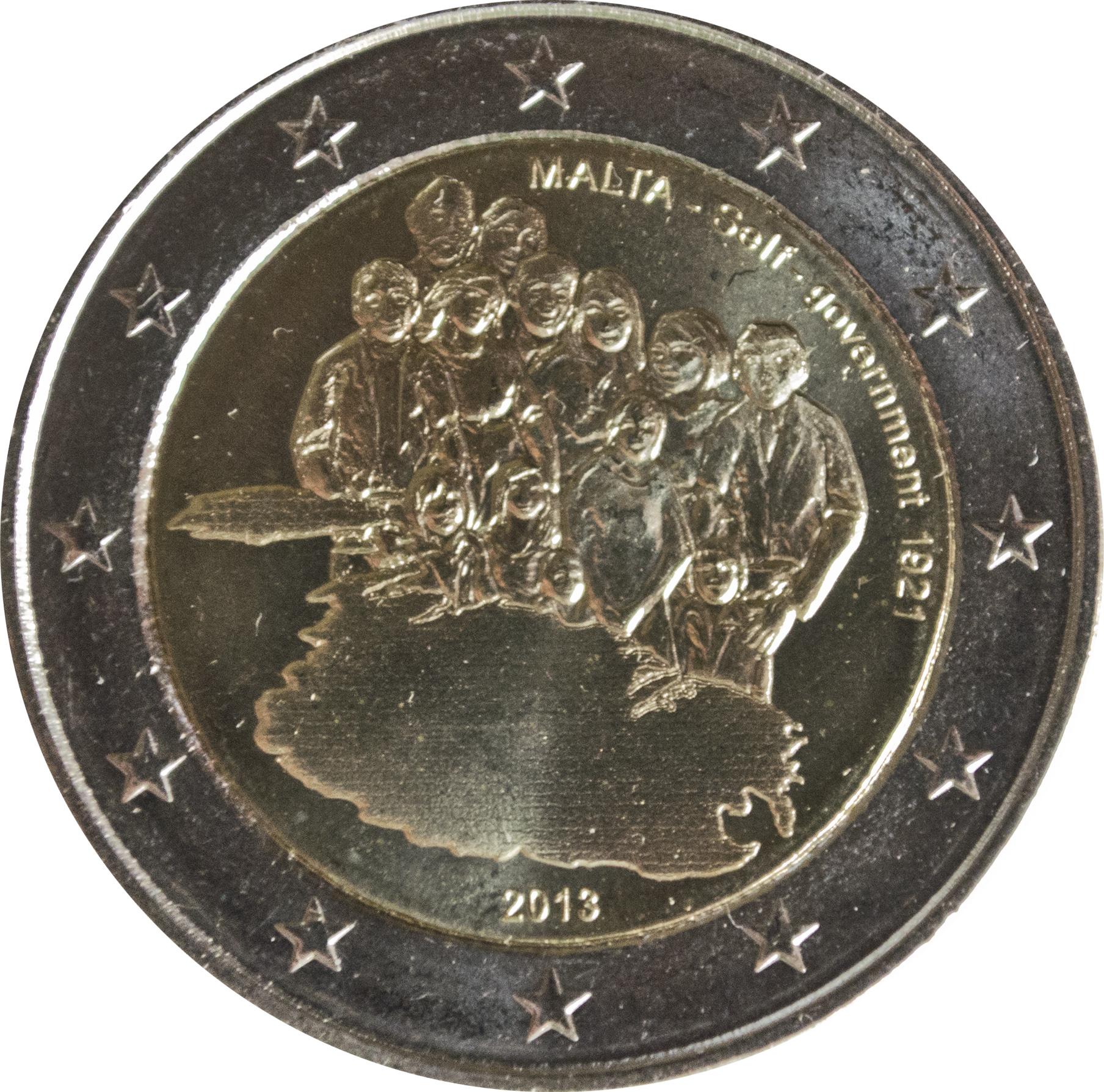 Malta 2 Euro 1921 Self Government  commemorate   UNC 2013