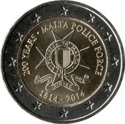 2 Euro (Malta Police Force) -  obverse