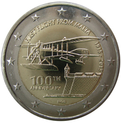 2 Euro (First Flight from Malta) -  obverse