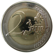 2 Euro (First Flight from Malta) -  reverse