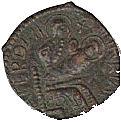 Copper Trifollaro of Roger I (MARIA MATER DNI) – obverse