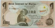1 Lira – obverse