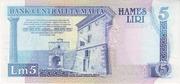 5 Liri – reverse