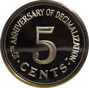 5 Cents (Decimalization) – reverse