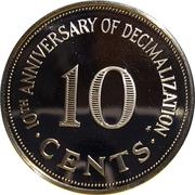 10 Cents (Decimalization) – reverse