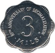 3 Mils (10th Anniversary of Decimalization) – reverse