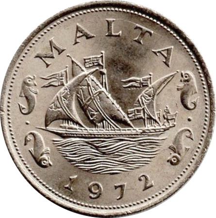 1972 Malta 10 Cents
