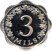 3 Mils /  3/10 Cent – reverse
