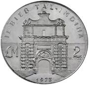 2 Pounds (Ta'l-Imdina Gate) – reverse