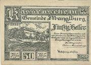 50 Heller (Manglburg) – obverse