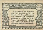 50 Heller (Manglburg) – reverse