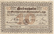 10 Heller (Mannersdorf) – reverse