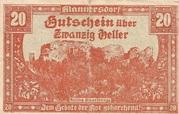 20 Heller (Mannersdorf) – obverse