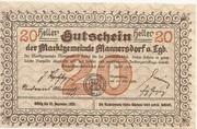 20 Heller (Mannersdorf) – reverse