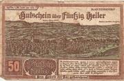 50 Heller (Mannersdorf) – obverse