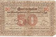 50 Heller (Mannersdorf) – reverse