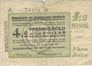 4.2 Pfennig Gold / 1/100 US-Dollar (Handelskammer) – obverse