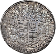 1 Thaler - Volrat VI, Wolfgang III, and Johann Georg – reverse