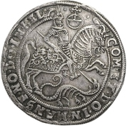 1 Thaler - Volrat VI, Jobst II and Wolfgang III – reverse