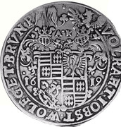 1 Thaler - Volrat VI, Jobst II, Wolfgang III and Bruno III – obverse