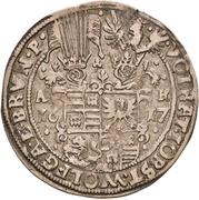 ¼ Thaler - Volrat VI., Jobst II., Wolfgang III. and Bruno – obverse