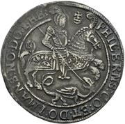 ¼ Thaler - Volrat VI., Wolfgang III., Johann Georg II. (Spruchtaler) – obverse