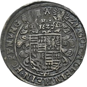 ¼ Thaler - Volrat VI., Wolfgang III., Johann Georg II. (Spruchtaler) – reverse