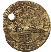 ½ Goldgulden - Volrat VI., Wolfgang III. and Johann Georg II. – reverse