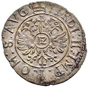 12 Kreuzer - Volrat VI., Philipp Ernst und Albrecht Wolff (Kipper) – reverse