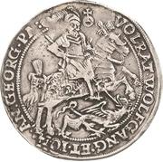 ½ Thaler - Volrat VI., Wolfgang III. and Johann Georg – obverse