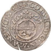 1 Groschen - Volrat VI., Wolfgang III. and Johann Georg – reverse