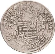½ Thaler - Volrat VI, Wolfgang III and Johann Georg – reverse