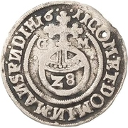 1 Groschen - Bruno II., Wilhelm I., Johann Georg IV., Volrat VI. and Jobst II. – reverse