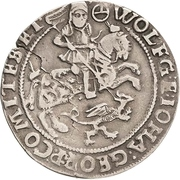 ¼ Thaler - Wolfgang III. and Johann Georg II. – obverse