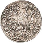 ¼ Thaler - Johann Georg I., Peter Ernst I. and Christoph II. – reverse