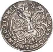 ¼ Thaler - Volrat VI., Jobst II., Wolfgang III. and Bruno III. (Death) – reverse