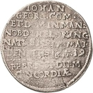 1 Groschen - Johann Georg II. (Sterbegroschen; Death) – obverse