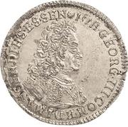 1 Groschen - Johann Georg III. (Sterbegroschen; Death) – obverse