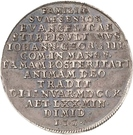 ¼ Thaler - Johann Georg III. (Death) – obverse