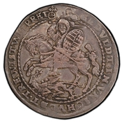 1 Thaler - Friedrich Christoph (Death) – reverse