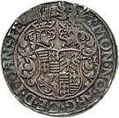 1 Thaler - Gebhard VII., Joh. Georg I. & Peter Ernst I – reverse