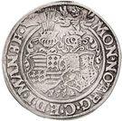 ½ Thaler - Gebhard VII, Johann Georg I & Peter Ernst I – reverse